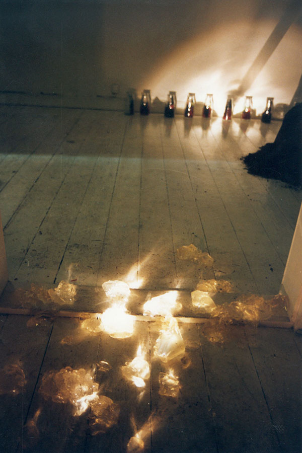 Installation ˈEine Straße im Mondscheinˈ Braunschweig 1991 (Auswahl)